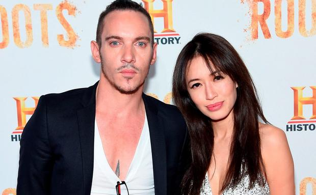 Actor Jonathan Rhys Meyers and fiancée Mara Lane attends the