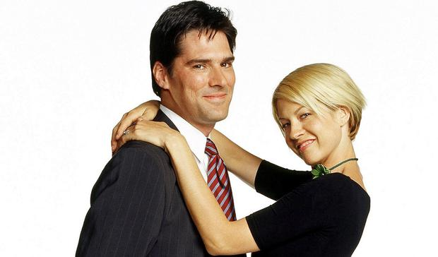 Jenna Elfman (pictured with Thomas Gibson) on Dharma & Greg