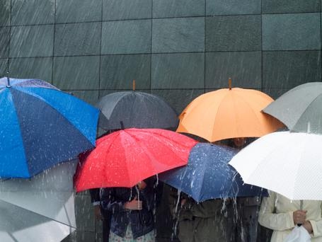 More than half of us secretly wish for bad weather
