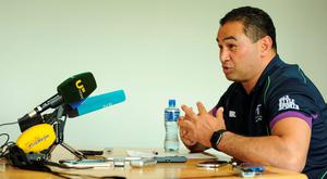 Connacht head coach Pat Lam speaking during a press conference at the Sportsground, Galway