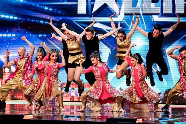 Bollywood Fusion taking part in ITV1's talent show, Britain's Got Talent Credit: SYCO/THAMES TV/PA Wire