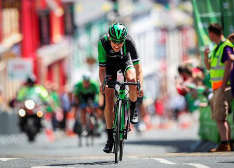 James Gullen, Pedal Heaven RT, comes home to win Stage 3 of The An Post Rás. Photo: ©INPHO/Ryan Byrne