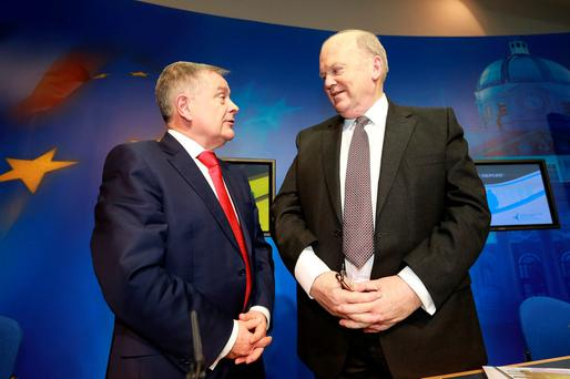 Brendan Howlin and Michael Noonan had a close working relationship Picture: Frank Mc Grath