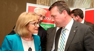Fresh support: Jan O'Sullivan with Alan Kelly Picture: Tom Burke