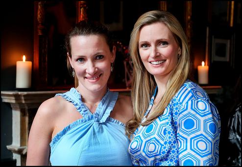 At the launch of the Dublin Horse Show were Tamso Doyle from Kildare and designer Keira Kennedy from Stepaside, Dublin Picture: Steve Humphreys