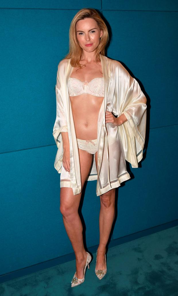 Model Sarah Morrissey launches the new Lingerie Room at Brown Thomas