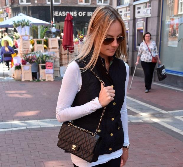 Rory McIlroy's fiancée Erica Stoll seen returning to The Wesbury Hotel after a stroll on Grafton Street