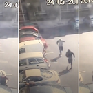 CCTV footage captures the moment Gareth Hutch was targeted by two gunmen outside his house