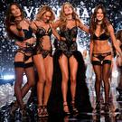 Victoria's Secret models (L-R) Lily Aldridge, Candice Swanepoel, Doutzen Kroes, Alessandra Ambrosio and Adriana Lima walks the runway during finale of the 2014 Victoria's Secret Fashion Show at Earl's Court exhibition centre on December 2, 2014 in London, England. (Photo by Dimitrios Kambouris/Getty Images for Victoria's Secret)