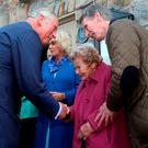 Prince of Wales meets Philomena Barry, 90, who was the housekeeper of his great-uncle Lord Mountbatten. Photo: Brian Lawless/PA Wire