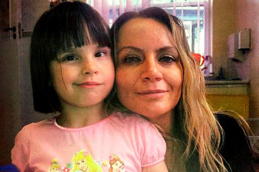 Six-year-old Ellie Butler with her mother Jennie Gray. Photo: Family handout/PA Wire
