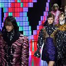 Models present creations for Kenzo 2016-2017 fall/winter ready-to-wear collection fashion show on March 8, 2016 in Paris.