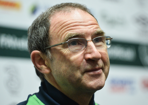 25 May 2016; Manager Martin O'Neill of Republic of Ireland during a press conference in the National Sports Campus, Abbotstown, Dublin. Photo by David Maher/Sportsfile