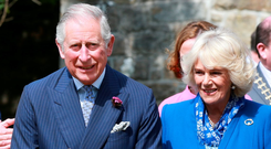 Prince Charles and Camilla visit Donegal Castle. Photo: Frank McGrath