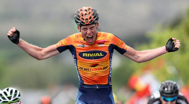 Nicolai Brochner of Denmark Riwal comes home to win Stage 4 of the An Post Rás from Dingle to Sneem (Picture: INPHO)