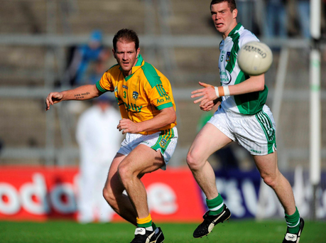 Current Limerick captain Ian Ryan (right) first made a name for himself in this 2008 SFC qualifier when, as a 19-year-old, he brushed off the attentions of the legendary Darren Fay to hit 3-7 and lead his team to a shock win over Meath (SPORTSFILE)