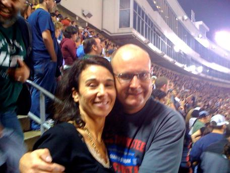 Ralph Riegel and wife Mary at the Bruce Springsteen concert in Giants Stadium in New Jersey in October 2009