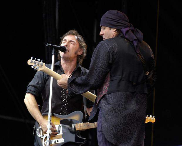 2. Springsteen pictured with Steve Van Zandt at the RDS May 31, 2003. Photo: Getty Images