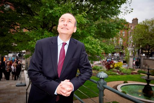 Micheál Martin at Fianna Fáil's 1916 Commemoration at the Round Room at the Mansion House, Dublin. Photos: Arthur Carron