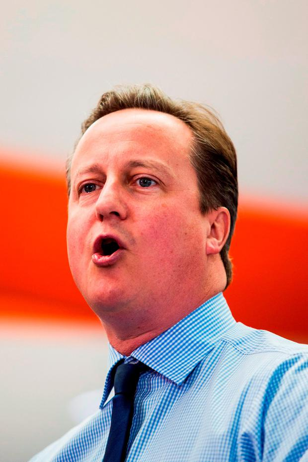 David Cameron: 'Putting up a fundamental barrier'. Photo: PA