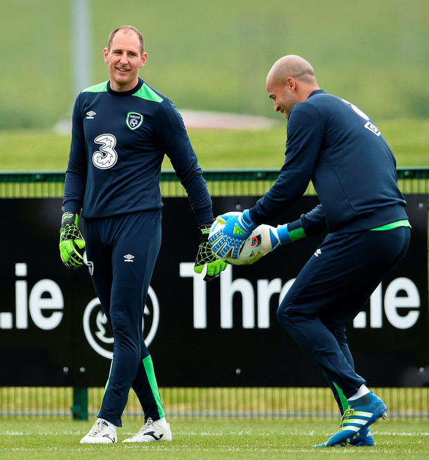 Ireland goalkeepers Darren Randolph and Gary Rogers: David Maher/Sportsfile
