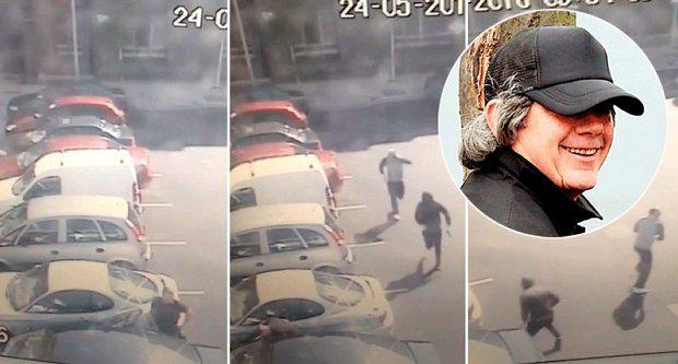 From left to right: the gunman approach as Gareth Hutch prepares to get into his car; the fatal shots are fired and the assassins make their getaway, inset, Gerry 'The Monk' Hutch