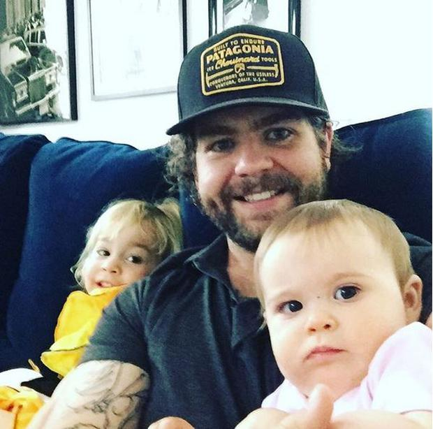 Jack with his daughters Andy Rose and Pearl Photo Credit: Instagram @JackOsbourne