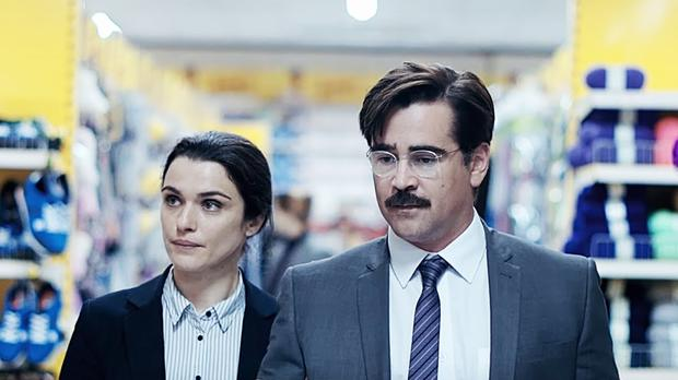 Colin Farrell (pictured with Rachel Weisz) in The Lobster