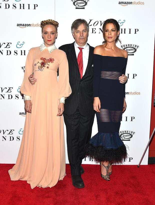 Whit Stillman with actresses Chloe Sevigny and Kate Beckinsale at the