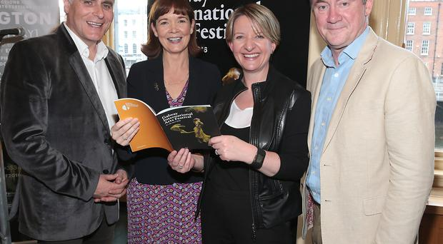 Pictured left to right are Paul Fahy, Artistic Director, Galway International Arts Festival, Caroline Miney, Senior Manager, Ulster Bank Galway/Mayo Business Centre, Maeve McMahon, Director of Customer Experience and Products, Ulster Bank and John Crumlish, Chief Executive, Galway International Arts Festival