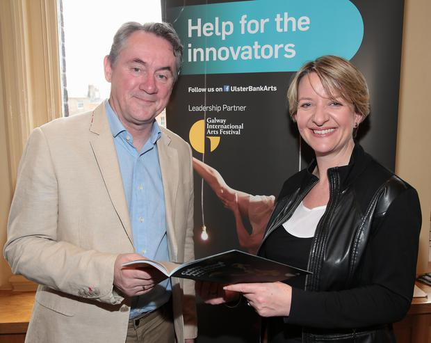 John Crumlish, Chief Executive, Galway International Arts Festival with Maeve McMahon, Director of Customer Experience and Products, Ulster Bank.