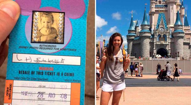 Chelsea Herline's ticket was honoured by Disney World... 20 years later