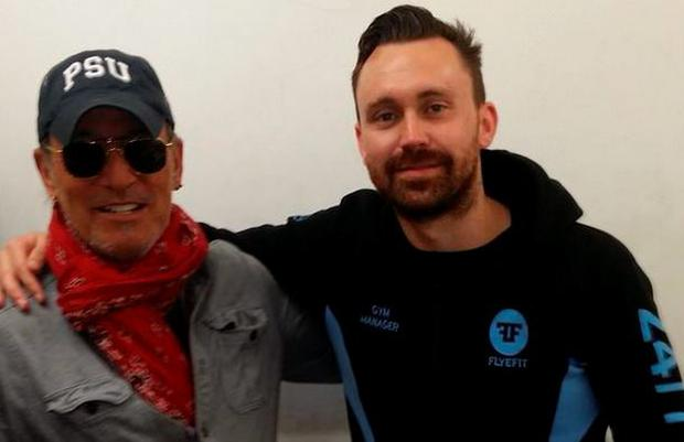 Bruce Springsteen enjoyed a workout in Dublin this evening