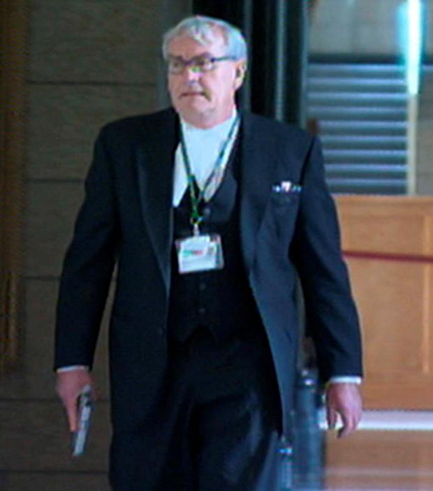 Mr Vickers during the terrorist attack at Canada's parliament