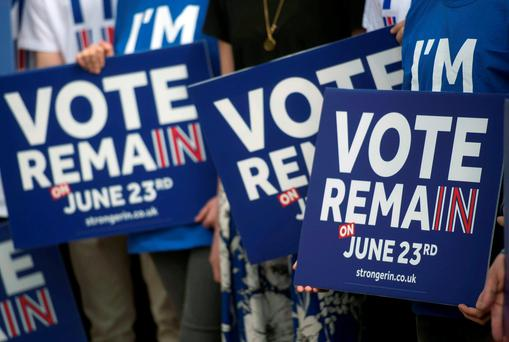A new poll shows that 44pc of respondents want the UK to remain in the EU, while only 20pc believe that it should leave. Photo: PA