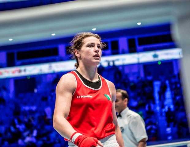 Katie (right) looked devoid of energy, the faintest sense of resignation communicating itself subliminally into her work. Photo: AIBA via SPORTSFILE