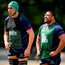 24 May 2016; Ultan Dilate, left, and Rodney Ah You of Connacht during squad training at the Sportsground, Galway. Photo by Seb Daly/Sportsfile