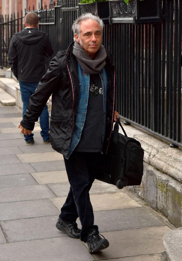 E Street Band member Nils Lofgren arrives at the Merrion Hotel in Dublin. Photo: VIPIreland.com