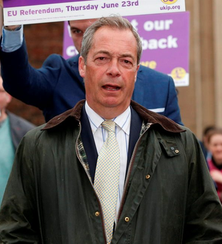 Ukip leader Nigel Farage. Photo: PA