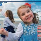 Caoimhe (5) and Alannah (3) Culhane celebrate An Taisce's Blue Flag Awards 2016 at Seapoint, Co Dublin