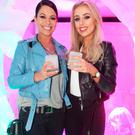 Michele McGrath and Rosie O'Connell pictured at the launch of the 7UP Mojito Free RefreshMINT Experience on Sir John Rogerson's Quay. Picture: Leon Farrell/Photocall Ireland