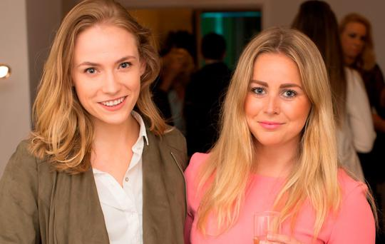 Michelle Harrison & Keva Doyle pictured at the launch of Claudine King Brows & Beauty, 22 South William Street. Picture: Anthony Woods