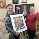 Christy and Yvonne Harrington beside their TV which went off as their daughter Kellie Harrington was boxing in the world championship final for Ireland, she was defeated by China's Ynag Wenlu