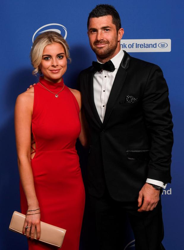 Jess Redden and Rob Kearney pictured at the 2016 Leinster Ball