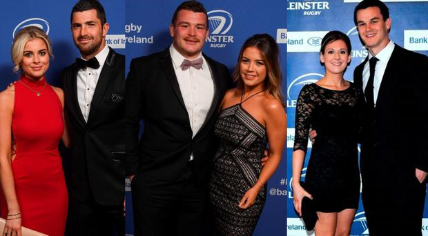 (L to R) Jess Redden and Rob Kearney; Jack McGrath and Sinead Corcoran and Laura and Johnny Sexton