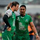 Connacht's centre partnership of Robbie Henshaw and Bundee Aki will be crucial to their hopes of success this evening. Photo: Seb Daly / Sportsfile