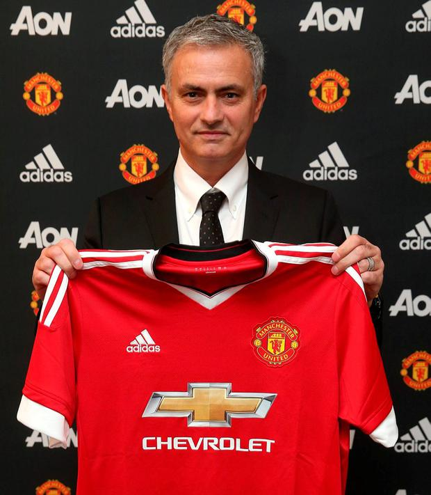 New Manchester United boss Jose Mourinho