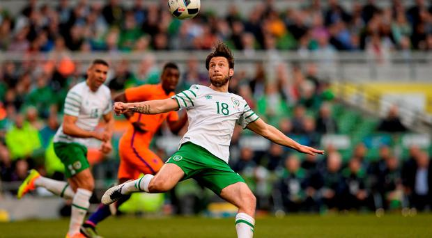 Harry Arter of Republic of Ireland in action against the Netherlands during the 3 International Friendly between Republic of Ireland and Netherlands in the Aviva Stadium, Lansdowne Road, Dublin. Photo by Matt Browne/Sportsfile