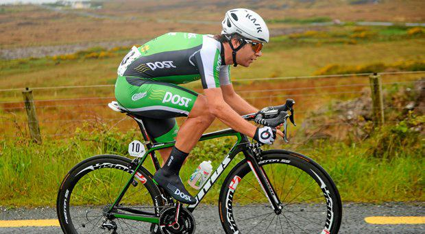 Aaron Gate during the Newport to Ballina leg of last year's An Post Rás (SPORTSFILE)
