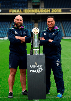 Connacht captain John Muldoon and head coach Pat Lam will be hoping to their hands on the Pro12 trophy at Murryfield this evening Photo by Stephen McCarthy/Sportsfile